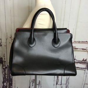 ALBERTA DI CANIO Black Italian Leather Large bag